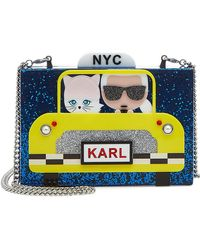 Karl Lagerfeld | Karl Nyc Taxi Box Clutch With Chain Strap | Lyst