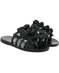 Ancient Greek Sandals - Sandales en cuir et satin avec nœuds Hara - Lyst