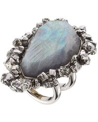 Alexander McQueen - Ring With Pyrite - Lyst