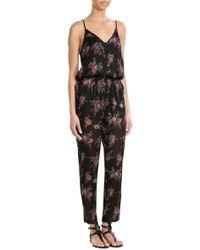 Mes Demoiselles - Printed Silk Jumpsuit - Lyst