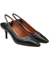 Vetements - Leather Slingback Kitten Heel Pumps - Lyst