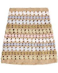 She Made Me - Maala Crochet Knit Skirt - Lyst