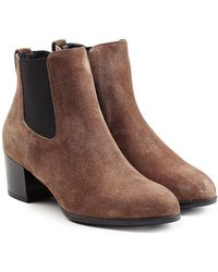 Hogan - Suede Ankle Boots - Lyst