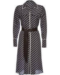 Karl Lagerfeld - Printed Silk Shirt Dress - Lyst