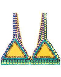 KIINI - Ro Crochet Trimmed Bikini I Top - Lyst