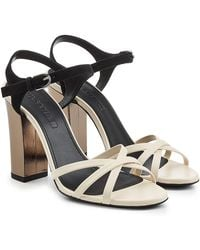 Jil Sander - Sandals With Leather And Suede - Lyst