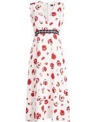 Proenza Schouler - Printed Midi Dress - Lyst
