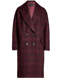 Tara Jarmon - Printed Coat With Wool - Lyst