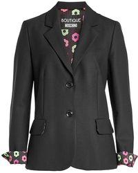 Boutique Moschino - Blazer With Virgin Wool - Lyst