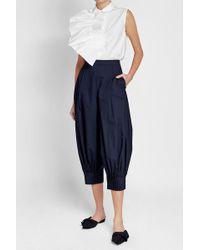 Delpozo - Pin Tuck Cotton Pants - Lyst