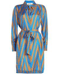 Diane von Furstenberg - Printed Silk Wrap Dress - Lyst