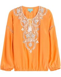 Taj - Beaded Silk Top - Lyst