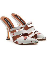 Y. Project - Open Toe Printed Leather Mules - Lyst