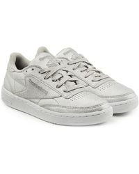 Reebok - Club C 85 Diamond Sneakers In Metallic Leather - Lyst 084980af9