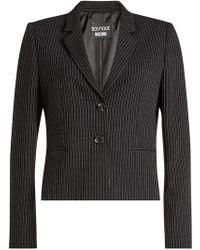 Boutique Moschino - Pinstriped Virgin Wool Blazer - Lyst