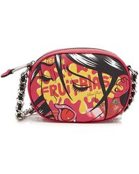 Moschino - Printed Fabric Shoulder Bag - Lyst