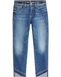 7 For All Mankind - Cropped Jeans mit asymmetrischem Saum - Lyst