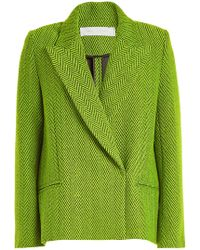 Victoria, Victoria Beckham - Cropped Wool Coat - Lyst
