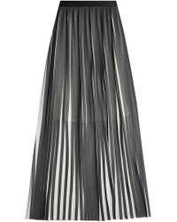 Karl Lagerfeld | Pleated Maxi Skirt | Lyst