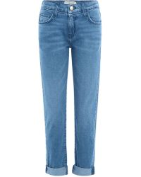 Current/Elliott - Cropped Jeans The Fling aus Baumwolle - Lyst
