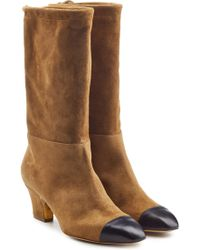 Rupert Sanderson - Suede Boots With Leather Toes - Lyst