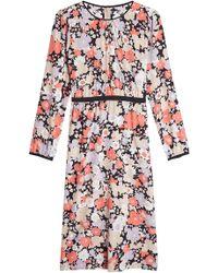 Agnona - Floral Midi Dress With Silk - Lyst