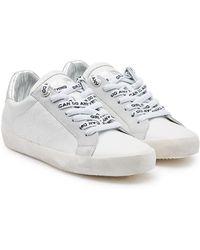 Zadig & Voltaire - Sneakers aus Leder und Veloursleder - Lyst