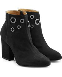 Sonia Rykiel - Embellished Suede Ankle Boots - Lyst