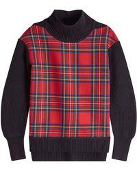 Burberry - Tartan Sweater - Lyst