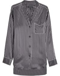 Rag & Bone - Striped Silk Pyjama Shirt - Lyst