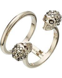 Alexander McQueen - Embellished Skull Ring - Lyst
