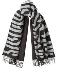 KENZO - Printed Wool Scarf - Lyst