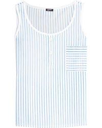 Jil Sander Navy - Striped Cotton Top - Lyst
