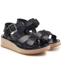A.P.C. | Odette Leather Sandals | Lyst
