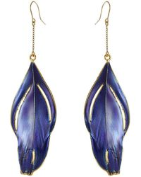 Aurelie Bidermann | 18k Gold-plated Feather Earrings | Lyst