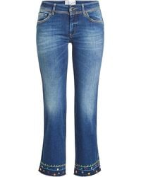 The Seafarer - Cropped Jeans With Embroidery - Lyst