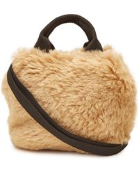 Muuñ - Mini Ice Bear Handbag With Faux Fur - Lyst 265e95d539365