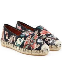 Valentino - Embroidered Canvas Espadrilles - Lyst