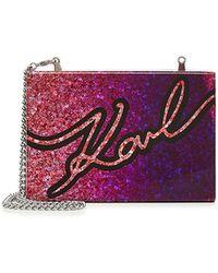 Karl Lagerfeld | K/signature Box Clutch | Lyst