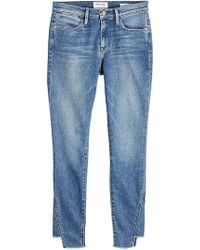 FRAME - Cropped Skinny Jeans Le High Skinny Gusse - Lyst