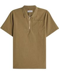 Tres Bien - Cotton Top With Zipped Front - Lyst