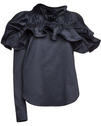 Silvia Tcherassi - Orazia Off-shoulder Cotton Blouse - Lyst