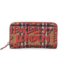 Burberry - Printed Leather Wallet - Lyst