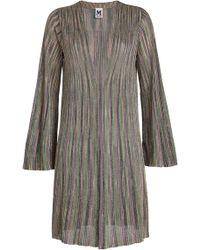 M Missoni - Knit Cardigan With Metallic Thread - Lyst