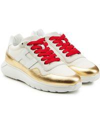 Hogan - Sneakers mit Mesh und Leder - Lyst