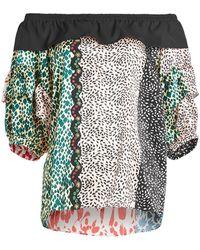 Sonia Rykiel - Printed Silk Dress - Lyst