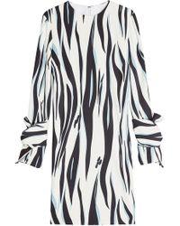 Victoria, Victoria Beckham - Printed Crepe Dress - Lyst