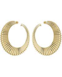 Aurelie Bidermann - 18kt Yellow Gold Plated Earrings - Lyst