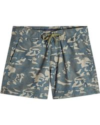 Woolrich - Printed Swim Shorts - Lyst