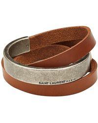 Saint Laurent - Leather Belt Bracelet - Lyst
